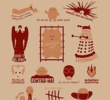 Doctor Who | Aliens & Villains by CLMdesign