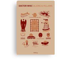 Doctor Who | Aliens & Villains Canvas Print