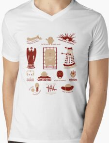 Doctor Who | Aliens & Villains Mens V-Neck T-Shirt