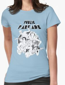 Public Parkade Comic Style Design Womens Fitted T-Shirt