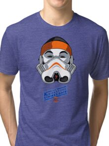 The KnicksTape Strikes Back!! (White) Tri-blend T-Shirt
