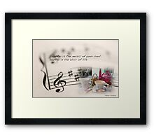 Laughter is the music of your soul... Framed Print