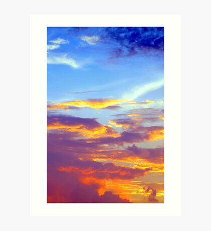 Just a Pretty Sunset Art Print