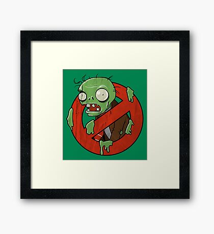 Zombie Buster Framed Print
