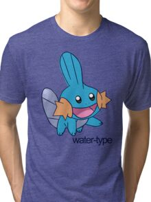 Pokemon Water-types - Mudkip Tri-blend T-Shirt