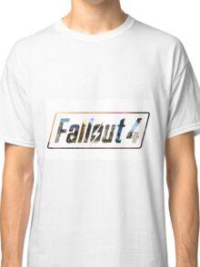 Fallout 4 Logo White Classic T-Shirt