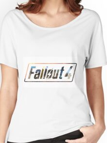 Fallout 4 Logo White Women's Relaxed Fit T-Shirt