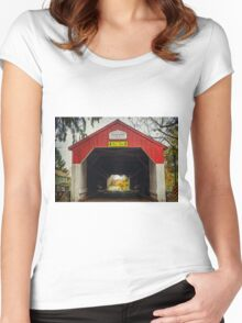 Uhlerstown Covered Bridge IV Women's Fitted Scoop T-Shirt