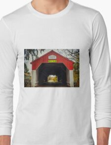 Uhlerstown Covered Bridge IV Long Sleeve T-Shirt