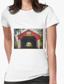 Uhlerstown Covered Bridge IV Womens Fitted T-Shirt