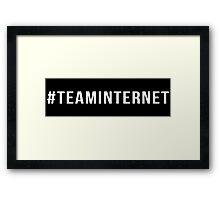 #TeamInternet  Framed Print