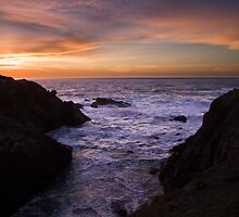 Mendocino Coast Sunset by gerardofm4