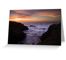 Mendocino Coast Sunset Greeting Card