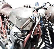 Vintage Custom Motorcycle by laurenelisabeth