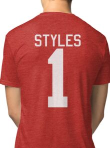 Harry Styles jersey (white text) Tri-blend T-Shirt