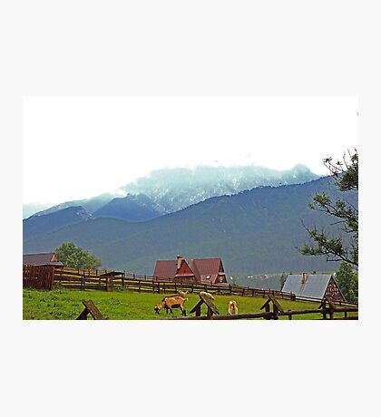 Koscielisko, Mountain scene Photographic Print
