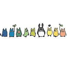 Rainbow Totoro by Pegg-n-Chops