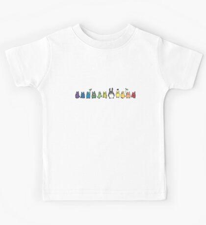 Rainbow Totoro Kids Tee