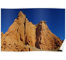 Kodachrome rocks under blue sky, Utah Poster