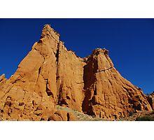 Kodachrome rocks under blue sky, Utah Photographic Print