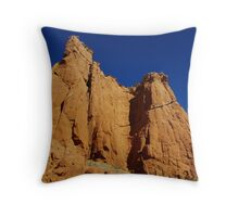 Kodachrome rocks under blue sky, Utah Throw Pillow
