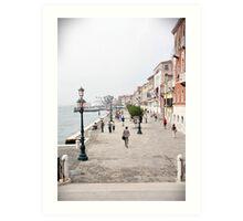 Venetian promenade Art Print