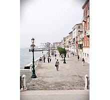 Venetian promenade Photographic Print