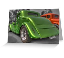 Green and red rods Greeting Card