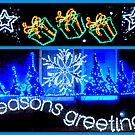 Season's Greetings in Blue by ©The Creative  Minds