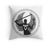 Raziel & The Mortal Instruments (The Shadowhunter's Seal) | Dark Throw Pillow