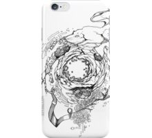 Hole in the Earth - Sketch Pen & Ink Illustration iPhone Case/Skin