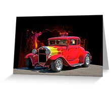 Hell Fire Hot Rod Greeting Card