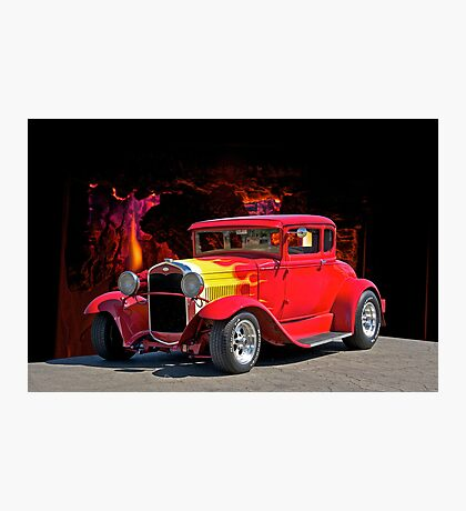 Hell Fire Hot Rod Photographic Print