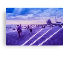 Infra red pedestrians Canvas Print