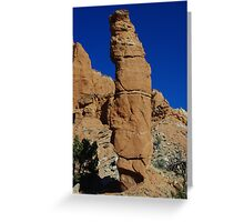 Kodachrome rock tower, Utah Greeting Card