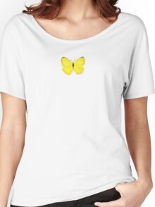 Yellow Butterfly Women's Relaxed Fit T-Shirt