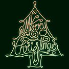 Merry Christmas Tree Neon by rhysjenkinsgd