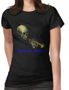 doot doot mr skeltal Womens Fitted T-Shirt