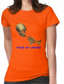 doot doot mr skeltal Womens Fitted T-Shirt