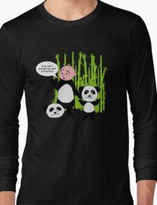 I'm not wanking off a Panda - Karl Pilkington T Shirt Long Sleeve T-Shirt