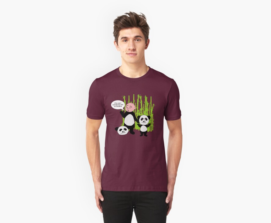 I'm not wanking off a Panda - Karl Pilkington T Shirt by WhiteCurl
