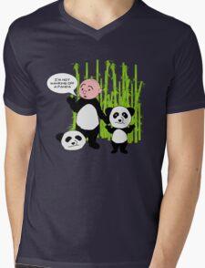 I'm not wanking off a Panda - Karl Pilkington T Shirt Mens V-Neck T-Shirt