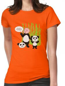 I'm not wanking off a Panda - Karl Pilkington T Shirt Womens Fitted T-Shirt