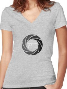 Licence to thrill W Women's Fitted V-Neck T-Shirt
