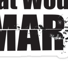 """What Would Omar Do? """"The Wire"""" Sticker"""