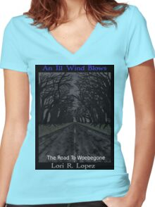 THE ROAD TO WOEBEGONE Women's Fitted V-Neck T-Shirt