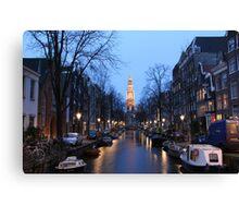 Zuiderkerk canals Canvas Print