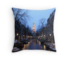 Zuiderkerk canals Throw Pillow