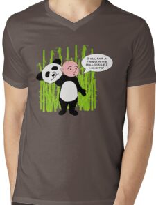 I will kick a Panda in the Bollocks - Karl Pilkington T Shirt Mens V-Neck T-Shirt