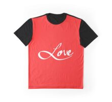 "Simple Hand Drawn ""Love"" Typography Graphic T-Shirt"
